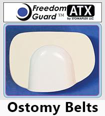 Ostomy Belt Guard: The Freedom-Guard ATX in white comes attached to the standard Stomaplex ostomy belt. The extra-duty ostomy belt is available by request. This combination is ideal for anyone with an ostomy who is looking for a support belt to protect his or her stoma. This is best ostomy belt for swimming. It provides protection from swimsuits and tight bands.
