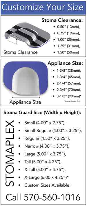 Ostomy Guard - Stoma Guard - Ostomy Belt - Size Chart