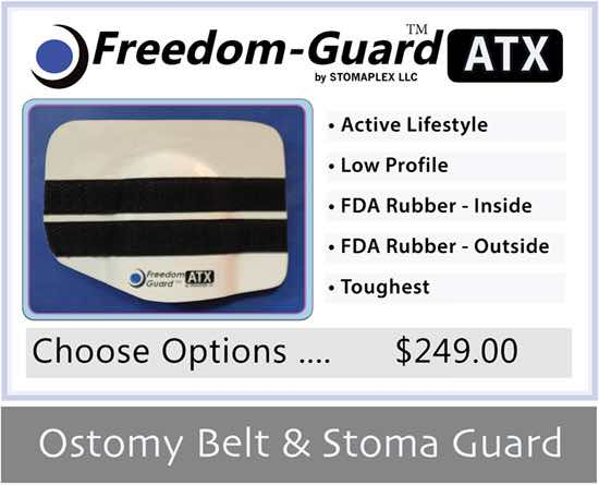 Freedom-Guard ATX: Stoma Guard and Ostomy Belt by Stomaplex Stoma Guards