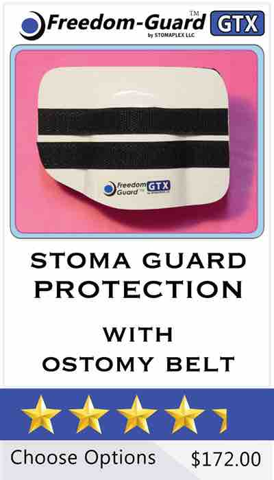 Freedom-Guard GTX: Stoma Guard and Ostomy Belt by Stomaplex Stoma Guards